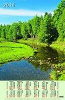 """Календарь на 2016 год листовой """"Лето. Ручей в лесу"""" (КН10-16002)"""