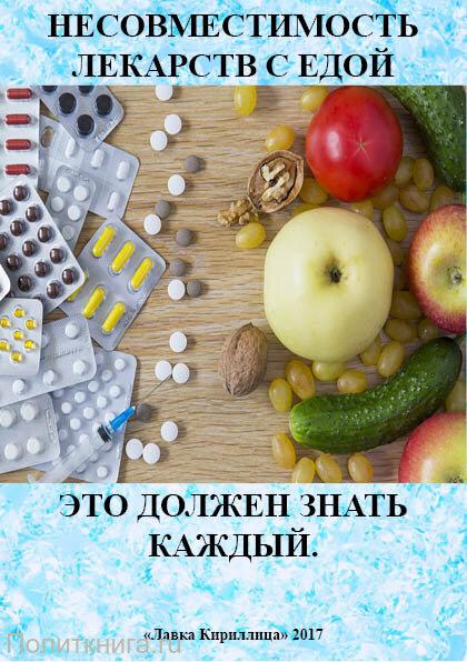 Несовместимость лекарств с едой. Это должен знать каждый